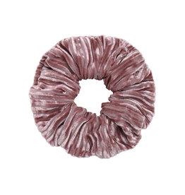 Velvet rib scrunchie - Pink