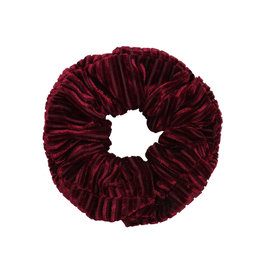 Velvet rib scrunchie - Red wine