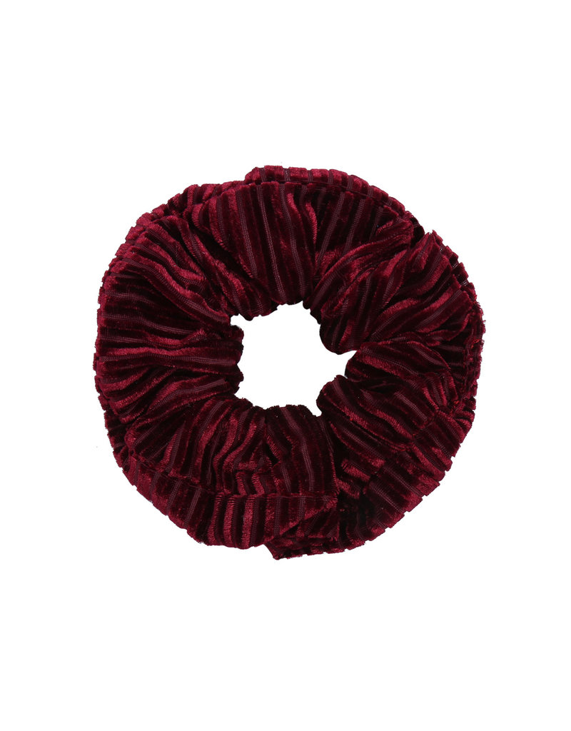 Velvet rib scrunchie - Red wine