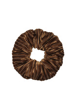 Velvet rib scrunchie - Bruin