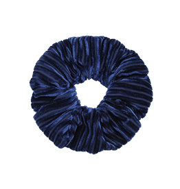 Velvet rib scrunchie - Dark blue