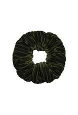 Velvet rib scrunchie - Forest green