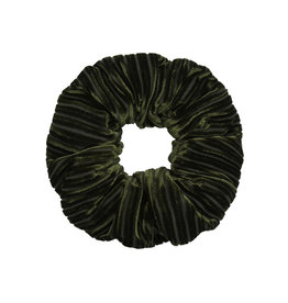 Velvet rib scrunchie - Forest green