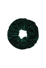 Velvet rib scrunchie - Dark green