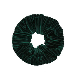 Velvet rib scrunchie - Dark green
