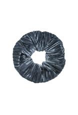 Velvet rib scrunchie - Grijs
