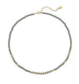 Ketting - Grey beads