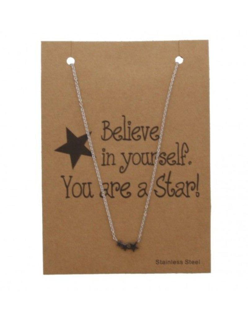 Ketting - zilveren ster