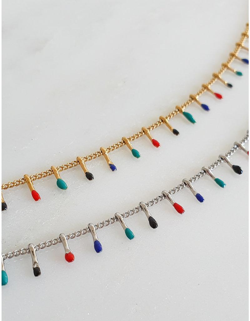 Ketting - Paint drops (goud)