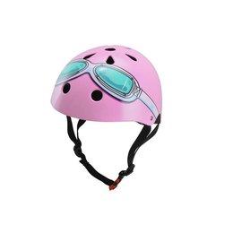 Kiddimoto Kinderhelm Pink Goggle Medium