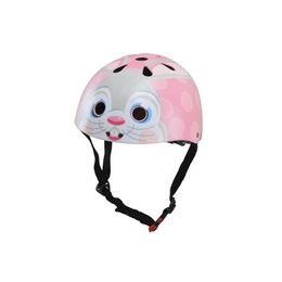 Kiddimoto Kinderhelm Pink Bunny Medium