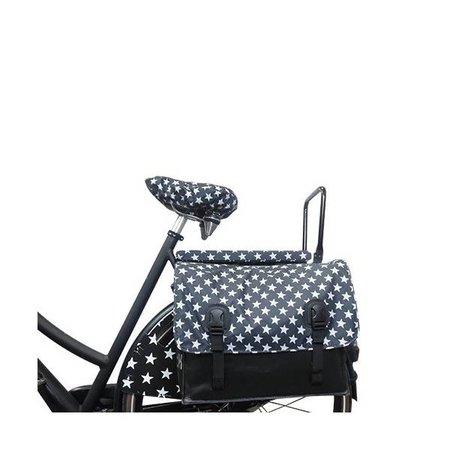 Hooodie Cushie Stars - zacht en vrolijk fietskussentje voor op bagagedrager