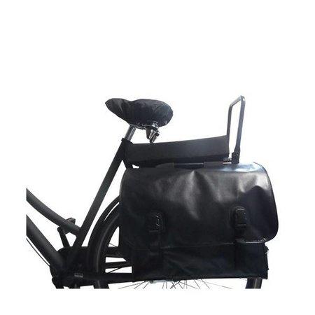 Hooodie Big Cushie Black Solid - zacht fietskussen voor op bagagedrager in effen zwart