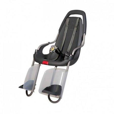 Qibbel Achterzitje basiselement - Antraciet - Style dit fietsstoeltje perfect naar wens!