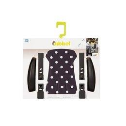 Qibbel Stylingset Luxe Voorzitje Polka Dot Zwart