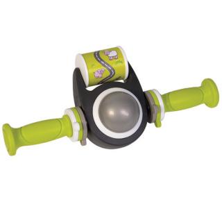 Qibbel Toybar met handvatten - voor leuke afleiding en meesturen - in opgewekt groen