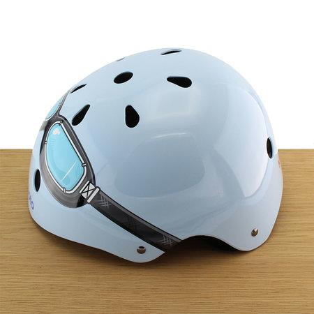 Kiddimoto Kinderhelm Blue Goggle Medium