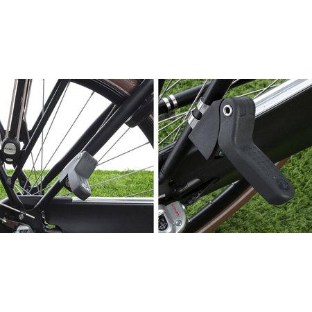 Qibbel 6+ Junior Seat compleet Groen/Zwart - compleet met voetsteunen, gordel en bagagedragerbevestiging