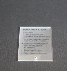 IWC Display piece Portugieser F.A. Jones