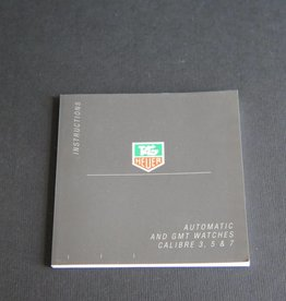 Tag Heuer Instructions Automatic And Gmt Watches Booklet