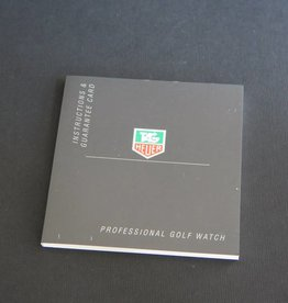 Tag Heuer Instructions Professional Golf Watch Booklet
