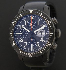 Fortis B-42 Black Chrono Carbon Dial