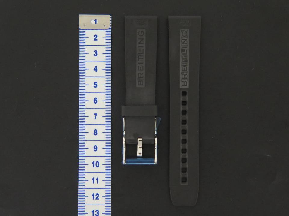 Breitling New Breitling Rubber strap 20-18 + Breitling Clasp