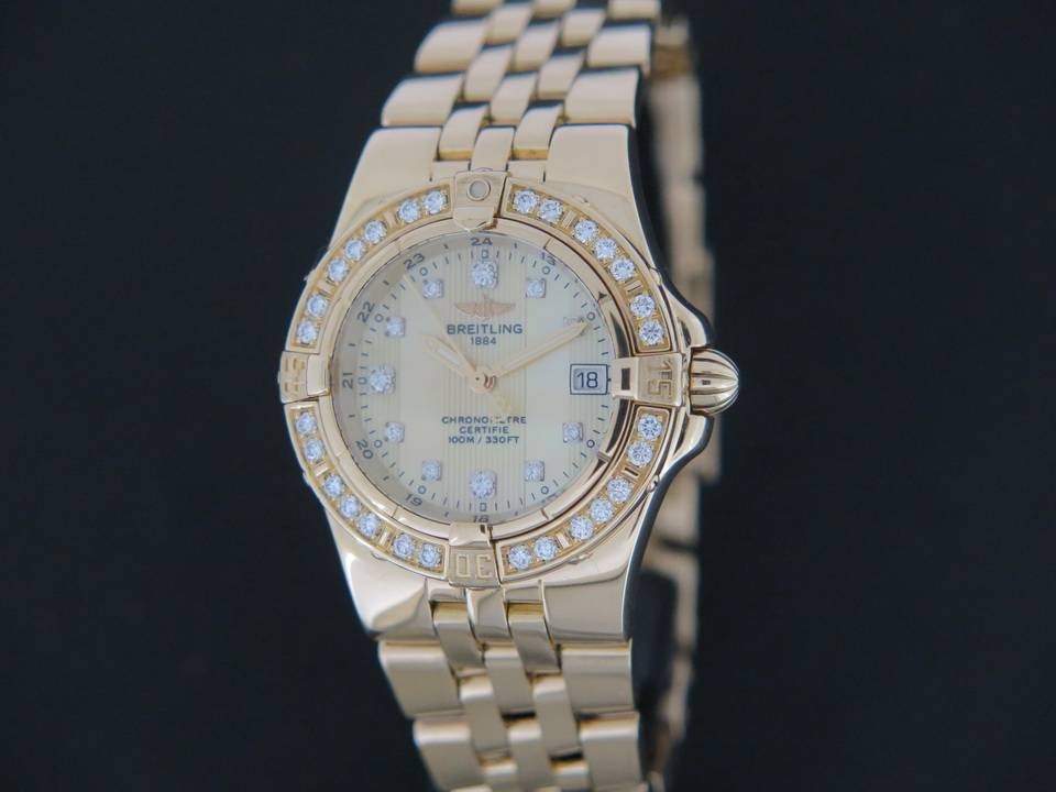 Breitling Breitling Breitling Starliner diamonds Yellowgold K71340