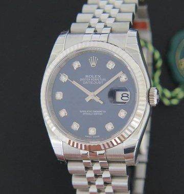 Rolex  Datejust Blue Diamond Dial NEW 116234