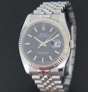 Rolex  Datejust  Black Dial 116234