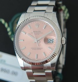 Rolex  Date Pink Dial NEW 115234
