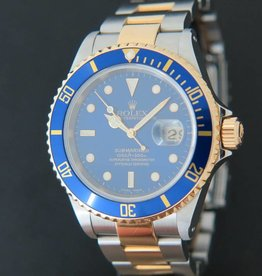 Rolex  Submariner Date Gold/Steel Blue Dial 16613