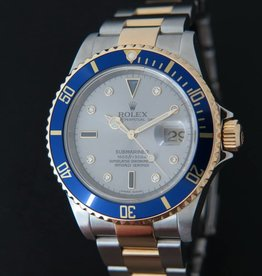 Rolex  Submariner Serti/Sultan Dial Gold/Steel 16613