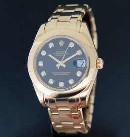 Rolex  Pearlmaster 34MM Yellowgold Diamonds 81208