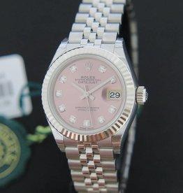 Rolex  Datejust 28mm Pink Diamonds NEW 279174