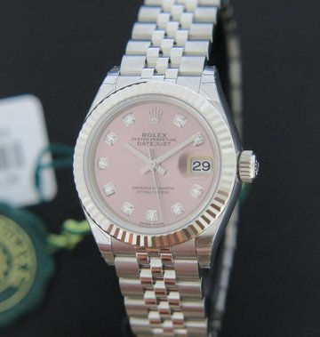 Rolex  Datejust 28mm Pink Diamonds NEW 279174