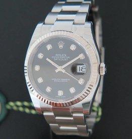 Rolex  Datejust Black Diamond Dial NEW
