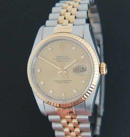 Rolex  Datejust Gold/Steel Diamonds 16233
