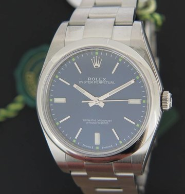 Rolex  Oyster Perpetual Blue NEW 114300