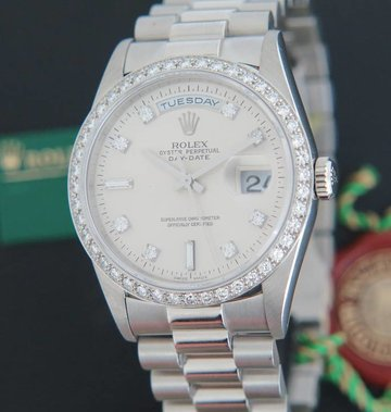 Rolex  Day-Date Platinum Diamonds 18346