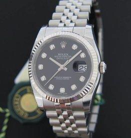Rolex  Datejust Black Diamond Dial NEW 116234