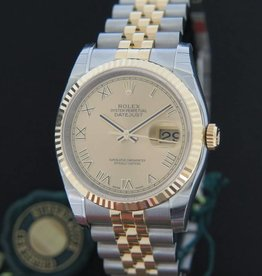 Rolex  Datejust Gold/Steel NEW 116233 Champagne Dial