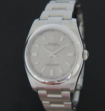 Rolex  Oyster Perpetual  Grey Dial 116000