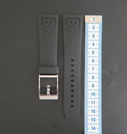 Breitling New Rubber strap 24-20 + Breitling Clasp