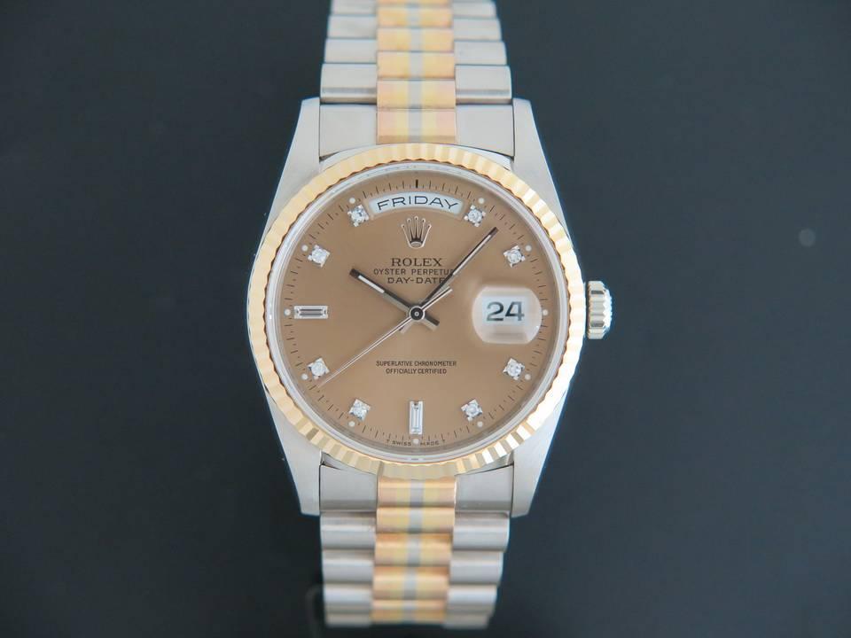 Rolex  Rolex Day-Date Tridor Diamonds Dial 18239