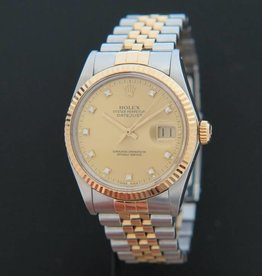 Rolex  Datejust Gold/Steel Diamonds 16013