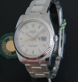 Rolex  Date Silver Dial NEW 115234
