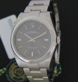 Rolex  Oyster Perpetual Dark Rhodium NEW 114300