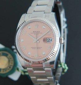 Rolex  Date Diamonds NEW 115234