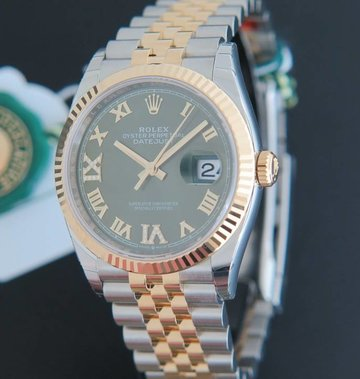 Rolex  Datejust NEW 126233 Green Diamond dial